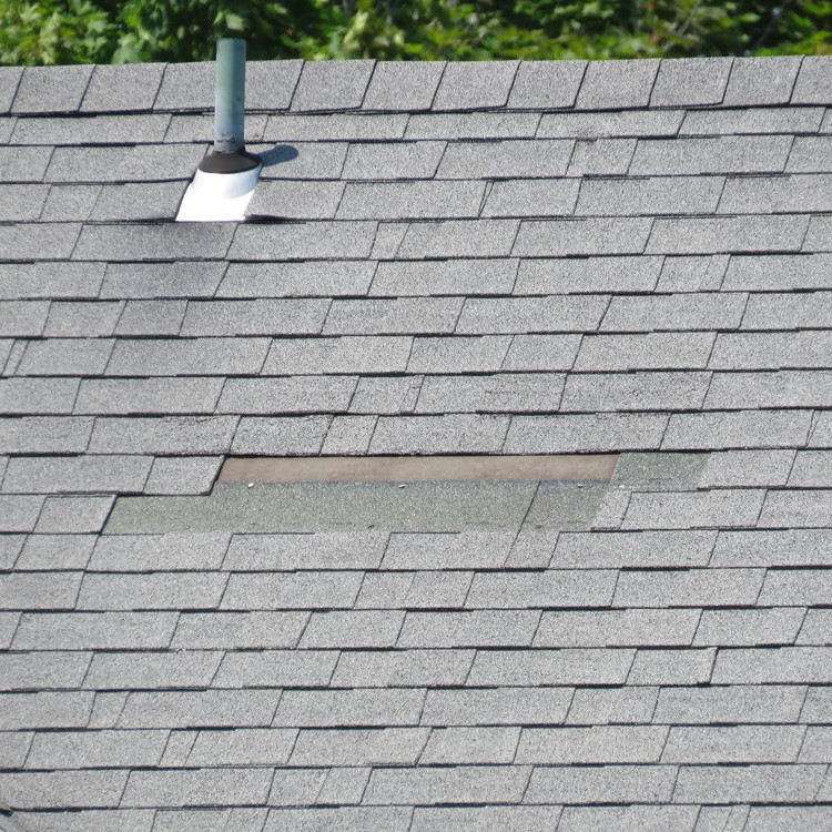 Roof with Missing Shingles